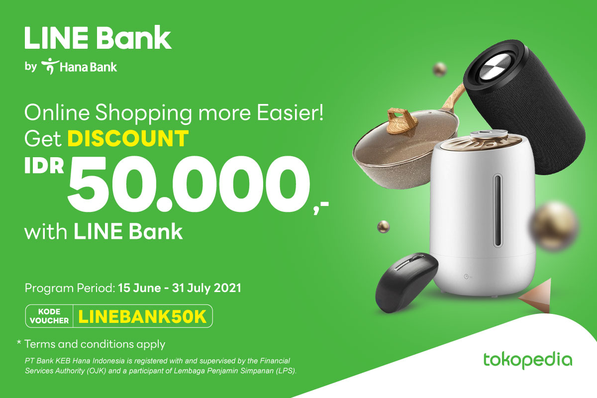 Use LINE Bank Debit Card & Enjoy Discount IDR 50.000