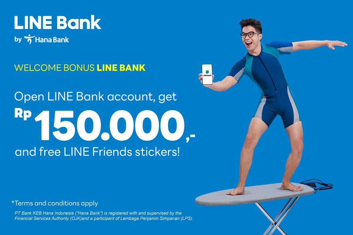 Open new LINE Bank account and get a cashback IDR150.000!