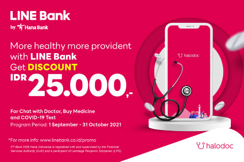Stay healthy with LINE Bank, enjoy a discount of IDR 25.000