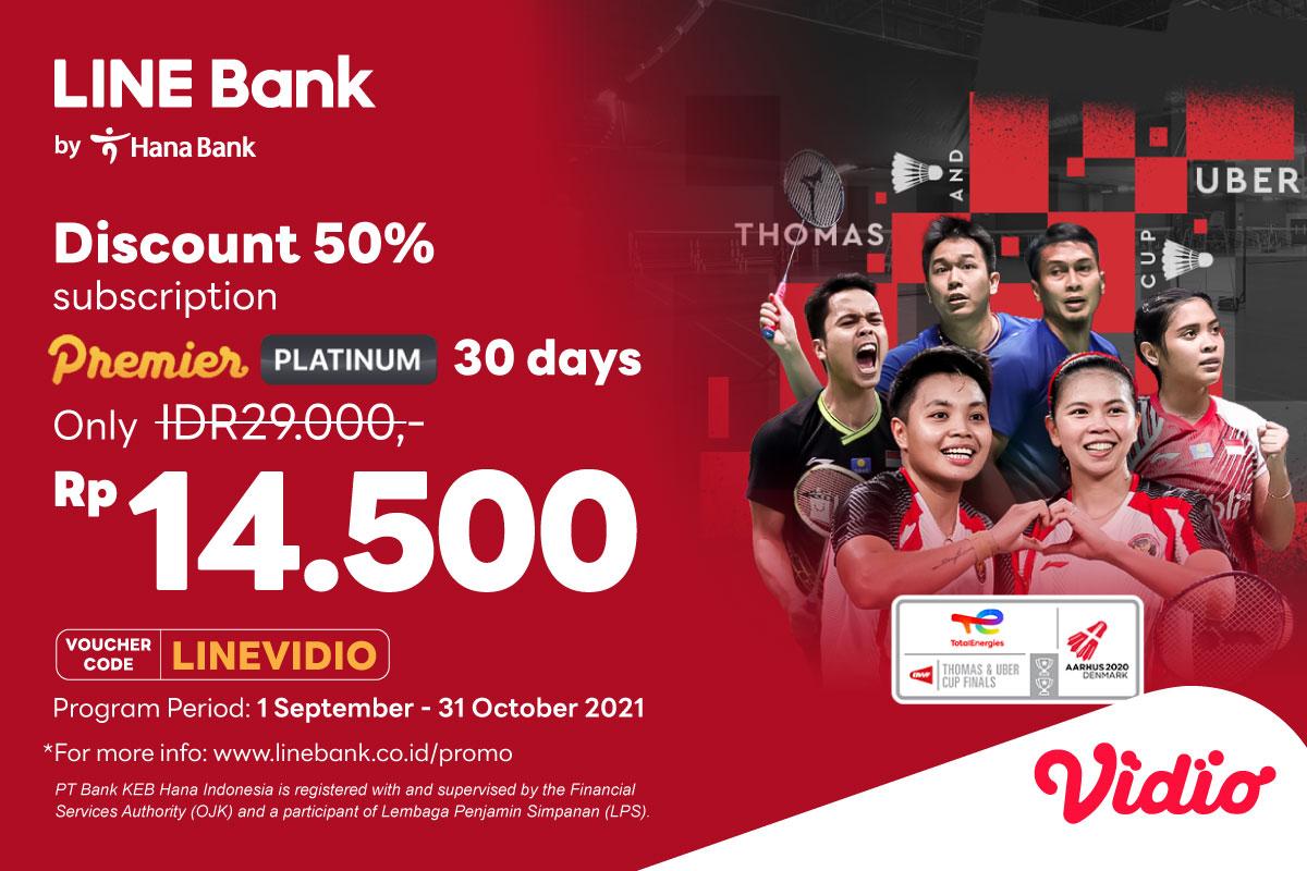 Premier subscription with LINE Bank & enjoy discount 50%